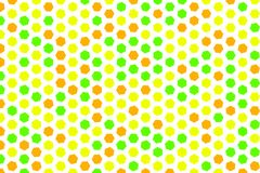 Abstract geometric hexagon pattern, colorful & artistic for graphic design, catalog, textile or texture printing & background. Style of mosaic or tile. Vector Stock Image