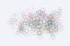 Abstract geometric hexagon pattern, colorful & artistic for graphic design, catalog, textile or texture printing & background. Vector illustration graphic Royalty Free Stock Photos