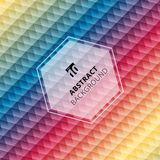 Abstract geometric hexagon pattern colorful background, Creative royalty free illustration