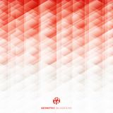 Abstract geometric hexagon pattern red and white background, Creative design templates stock illustration