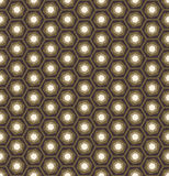 Abstract geometric hexagon seamless pattern background Stock Image