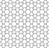 Abstract geometric hexagonal seamless pattern. Simple minimalistic graphic design background, fabric ornament. Vector. Illustration Stock Photo