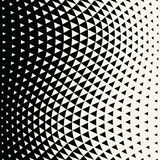 Abstract geometric hipster fashion design print halftone triangle pattern Stock Images