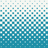 Abstract geometric hipster fashion halftone blue square pattern. Background Royalty Free Stock Photos