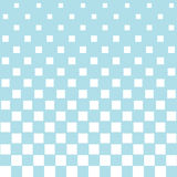 Abstract geometric hipster fashion halftone blue square pattern. Background Stock Images