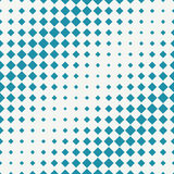 Abstract geometric hipster fashion halftone blue square pattern. Background stock illustration