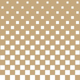 Abstract geometric hipster fashion halftone gold square pattern Royalty Free Stock Photography