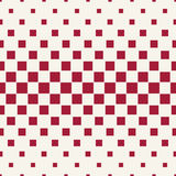 Abstract geometric hipster fashion halftone red square pattern Stock Photos