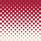 Abstract geometric hipster fashion halftone red square pattern Royalty Free Stock Images
