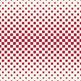 Abstract geometric hipster fashion halftone red square pattern Stock Images