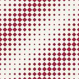 Abstract geometric hipster fashion halftone red square pattern Stock Photo