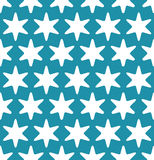 Abstract geometric hipster fashion pillow blue christmas star pattern Stock Photography