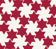 Abstract geometric hipster fashion pillow red christmas pattern background Royalty Free Stock Photography