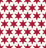 Abstract geometric hipster fashion pillow red christmas pattern background Royalty Free Stock Images
