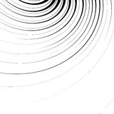 Abstract geometric illustration with radial swirling, spirally l. Ines royalty free illustration