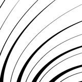 Abstract geometric illustration with radial swirling, spirally l. Ines stock illustration