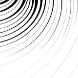 Abstract geometric illustration with radial swirling, spirally l. Ines vector illustration