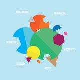 Abstract geometric infographic illustration Royalty Free Stock Photos