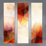 Abstract geometric invitations or banners Royalty Free Stock Photography