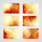 Abstract geometric invitations or cards Royalty Free Stock Photo