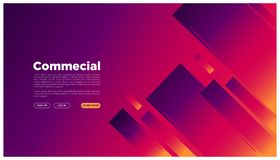 Abstract geometric landing page colorful futuristic graphic space your text here_geometric style royalty free illustration