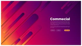 Abstract geometric landing page colorful futuristic graphic space your text here_rounded abstract. For website login preview commercial web very modern abstract vector illustration