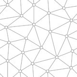 Abstract geometric lattice background. Seamless pattern of randomly scattered and connected particles. Circles of molecule are uni stock illustration