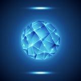 Abstract geometric lattice, technology background Stock Photography