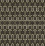 Abstract geometric line hexagon seamless pattern background Stock Photos