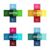 Abstract geometric line infographic templates. Geometric business abstract background for workflow layout, diagram, number options or web design Stock Image