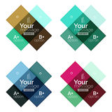 Abstract geometric line infographic templates. Geometric business abstract background for workflow layout, diagram, number options or web design Stock Images