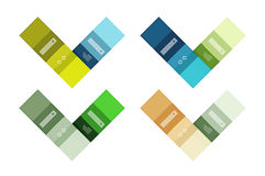 Abstract geometric line infographic templates. Geometric business abstract background for workflow layout, diagram, number options or web design royalty free illustration