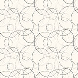 Abstract geometric line and round seamless pattern Stock Images