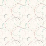 Abstract geometric line and round seamless pattern Stock Photography