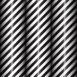 Abstract geometric lines with black and white diagonal stripes. Black gradient. Vector illustration Stock Photo