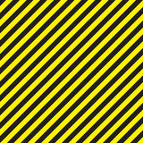 Abstract geometric lines with diagonal black and yellow stripes. Vector illustration Royalty Free Stock Photo