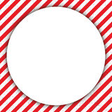 Abstract geometric lines, with a diagonal red and white, with a circle. Vector illustration Royalty Free Stock Photography