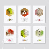 Abstract geometric logo hipster card design Stock Photos