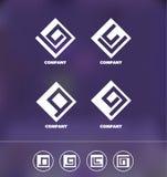 Abstract geometric logo icon set Stock Photo