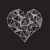 Abstract geometric low poly line heart Royalty Free Stock Photos