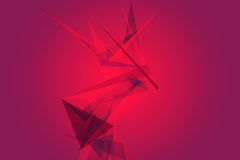 Abstract geometric and low polygon on dark color background. Illustration Royalty Free Stock Image