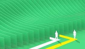Abstract geometric maze Business Plane And Curve Green on Background. / Illustration vector illustration