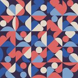 Abstract geometric minimal pattern artwork poster with simple shape and figure background stock illustration