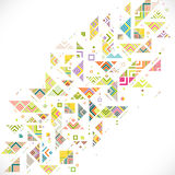 Abstract geometric with mix variety lines, dots and colorful pat Stock Photo