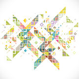 Abstract geometric with mix variety lines, dots and colorful pattern background Stock Photo