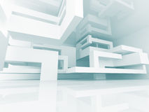 Abstract Geometric Modern Architecture Background. 3d Render Illustration Stock Photo