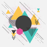 Abstract geometric modern background with triangles Royalty Free Stock Image
