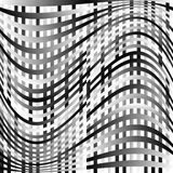 Abstract geometric monochrome graphics with intersecting lines. Royalty free vector illustration stock illustration