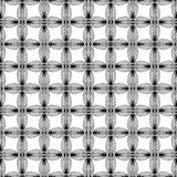 Abstract geometric monochrome pattern with unusual Royalty Free Stock Images