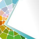 Abstract geometric mosaic background. Stock Image